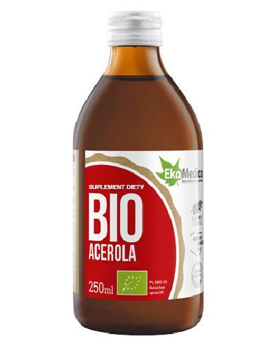 EkaMedica Acerola Bio sok 100% purre z sokiem z owoców aceroli 250 ml