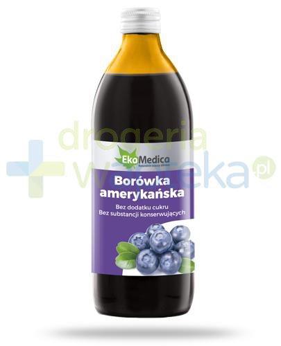 EkaMedica Borówka amerykańska sok pasteryzowany 500 ml