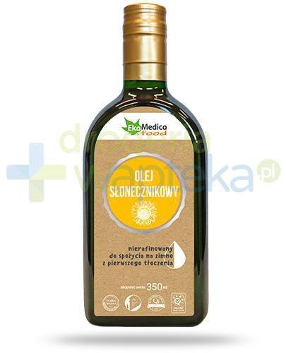 EkaMedica Food olej słonecznikowy nierafinowany 350 ml