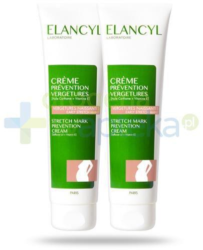 Elancyl krem przeciw rozstępom 2x 150 ml [DWUPAK]  whited-out