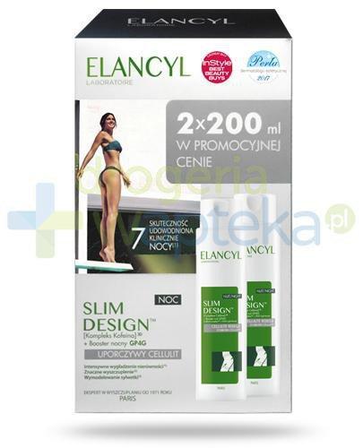 Elancyl Slim Design Uporczywy cellulit krem wygładzający nierówności na noc 2x 200 ml [DWUPAK]