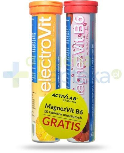 ElectroVit uzupełnia elektrolity smak pomarańczowy 20 tabletek + MagnezVit B6 smak malinowy 20 tabletek