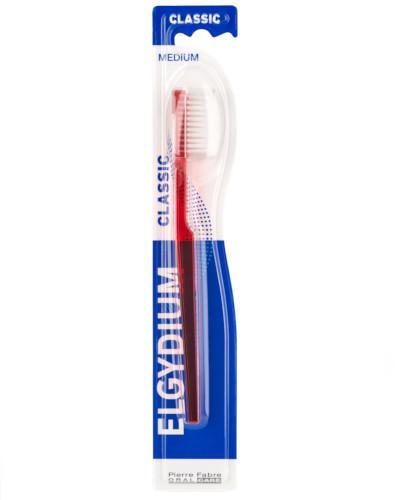 ELGYDIUM Classic klasyczna szczoteczka do zębów średnia 1 sztuka