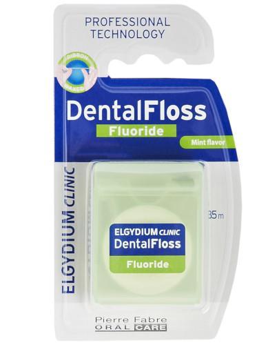 Elgydium Dental Floss Nić dentystyczna z fluorem miętowa 35m