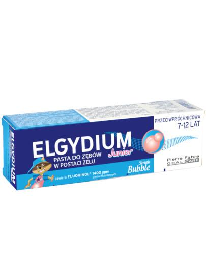 Elgydium Junior przeciwpróchnicowa pasta do zębów dla dzieci 7-12 lat o smaku gumy balo...