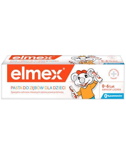 Elmex pasta do zębów z aminofluorkiem dla dzieci od 1 ząbka do 6 lat 50 ml