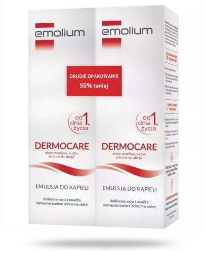 Emolium Dermocare emulsja do kąpieli 2x 400 ml [DWUPAK]