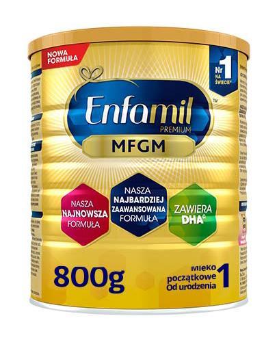 Enfamil 1 Premium MFGM mleko początkowe od urodzenia 800 g