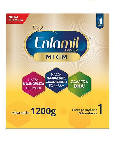 Enfamil 1 Premium MFGM mleko w proszku dla dzieci 0m+ 6x 1200 g [SZEŚCIOPAK] [Data ważn...