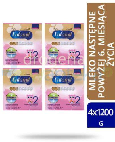 Enfamil 2 Premium mleko w proszku dla dzieci 6m+ 4x 1200 g