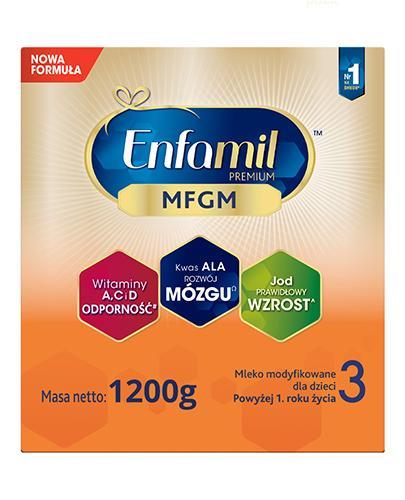 Enfamil 3 Premium MFGM mleko modyfikowane powyżej 1 roku 6x 1200 g [SZEŚCIOPAK] [DARMOW...