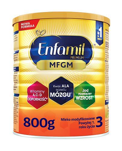 Enfamil 3 Premium MFGM mleko modyfikowane powyżej 1 roku 800 g