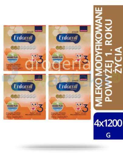 Enfamil 3 Premium mleko w proszku dla dzieci 12m+ 4x 1200 g  whited-out