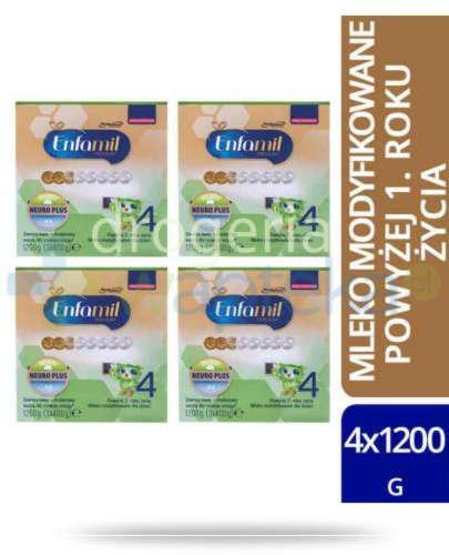 Enfamil 4 Premium mleko w proszku dla dzieci 24m+ 4x 1200 g  whited-out