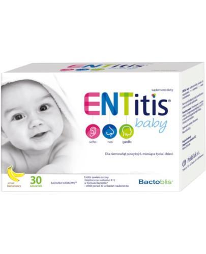 ENTitis Baby Proszek smak bananowy 30 saszetek