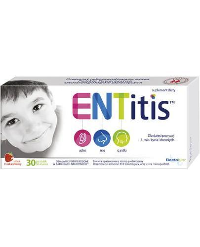ENTitis pastylki do ssania o smaku truskawkowym 30 sztuk