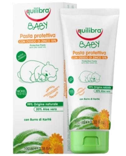 Equilibra Baby pasta ochronna dla dzieci z tlenkiem cynku 10% 100 ml  [Maska Arganowa + Ze...