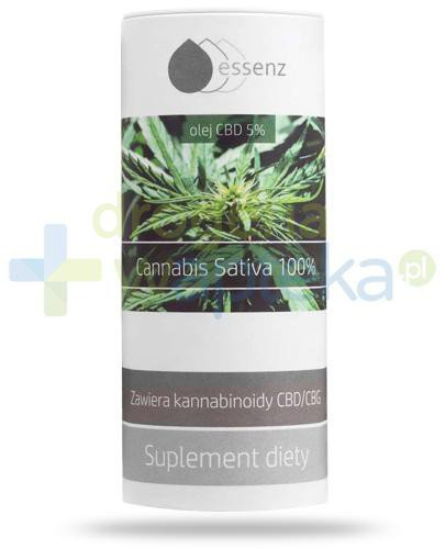 Essenz Cannabis Sativa 100% olej CBD 5% 15 ml  whited-out