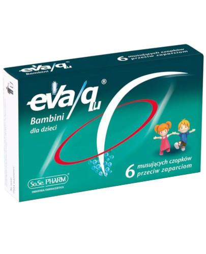 Eva/Qu Bambini czopki przeciw zaparciom dla dzieci 6 sztuk