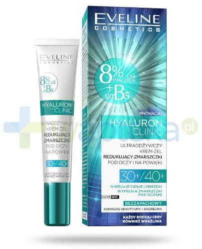 Eveline Hyaluron Clinic 30+/40+ ultraodżywczy krem-żel redukujący zmarszczki pod oczy ...
