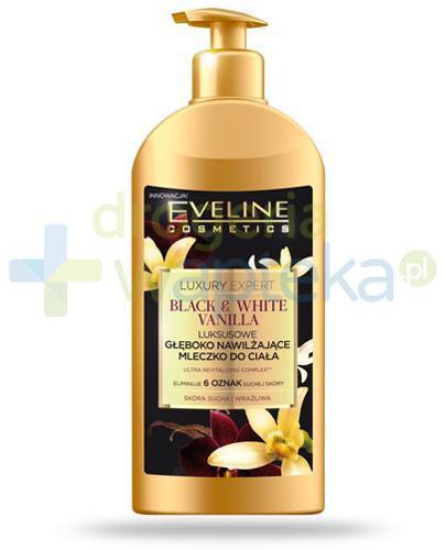 Eveline Luxury Expert Black & White Vanilla luksusowe głęboko nawilżające mleczko do ciała 350 ml