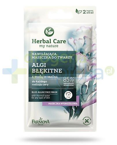 Farmona Herbal Care Algi błękitne z wodą termalną maseczka nawilżająca 2x 5 ml