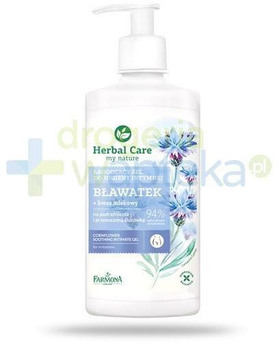 Farmona Herbal Care Bławatek łagodzący żel do higieny intymnej z kwasem mlekowym 330 m...