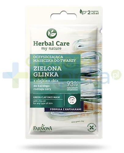 Farmona Herbal Care Glinka zielona z olejkiem chia maseczka oczyszczająca 2x 5 ml