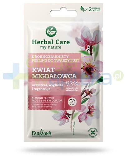 Farmona Herbal Care Kwiat migdałowca drobnoziarnisty peeling do twarzy i ust 2x 5 ml