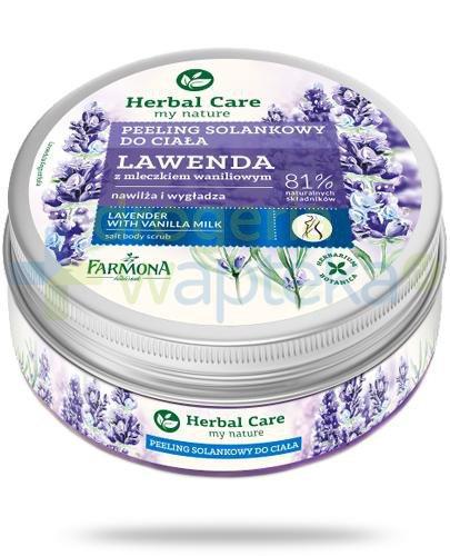 Farmona Herbal Care Lawenda z mleczkiem waniliowym peeling solankowy do ciała 220 g