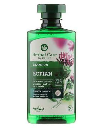 Farmona Herbal Care Łopian szampon do włosów tłustych u nasady i suchych na końcach 330 ml