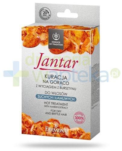 Farmona Jantar Kuracja na gorąco z wyciągiem z bursztynu do włosów suchych i łamliwych [ZESTAW]