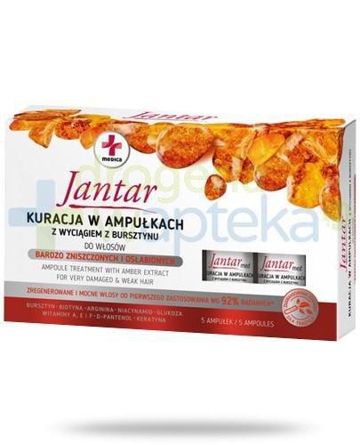 Farmona Jantar Medica kuracja w ampułkach z wyciągiem z bursztynu do włosów bardzo zni...
