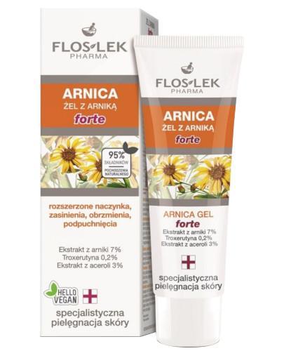 Flos-Lek Arnica Forte żel arnikowy na rozszerzone naczynka sińce potłuczenia obrzmieni...