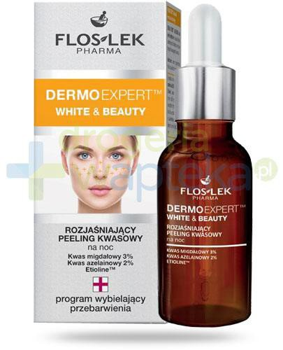 Flos-Lek Dermo Expert White&Beauty rozjaśniający peeling kwasowy na noc 30 ml