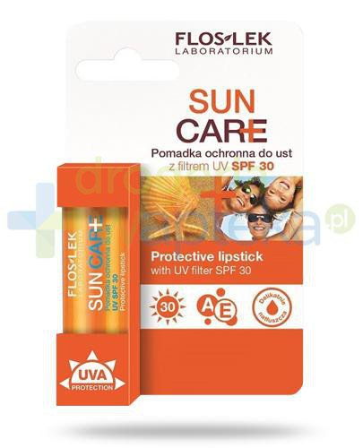Flos-Lek Sun Care Pomadka ochronna do ust z filtrem UV SPF30