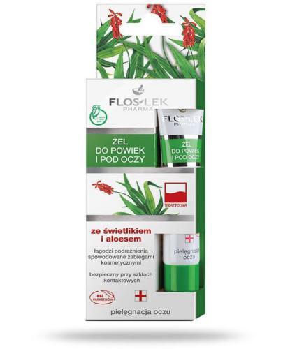 Flos-Lek Żel do powiek i pod oczy ze świetlikiem i aloesem 15 ml