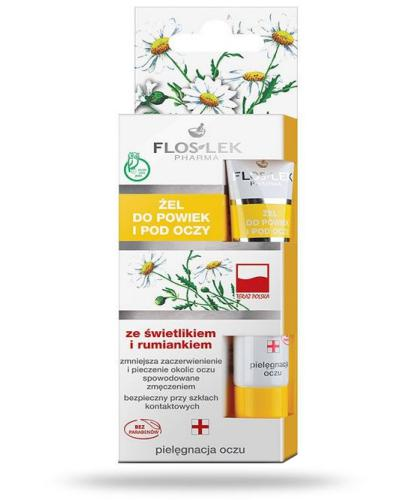 Flos-Lek Żel do powiek ze świetlikiem i rumiankiem 15 ml