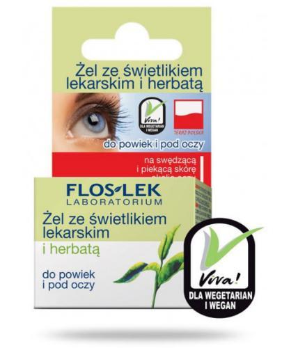 Flos-Lek Żel ze świetlikiem i herbatą 10 g