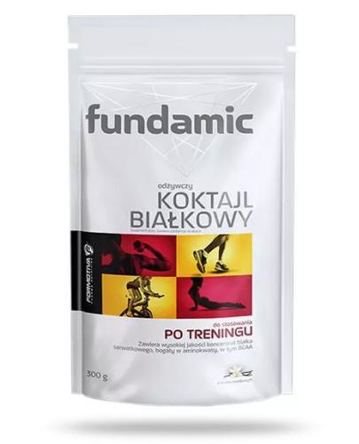 Fundamic odżywczy koktajl białkowy po treningu smak waniliowy 300 g  whited-out