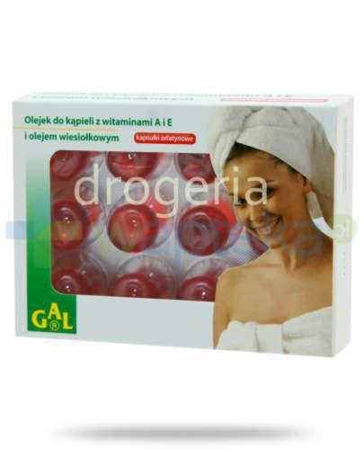 GAL Olejek do kąpieli z witaminami A i E i olejem wiesiołkowym 3000 mg 12 kapsułek