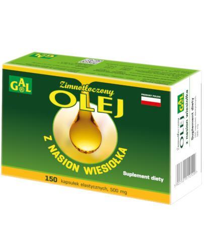 GAL Zimnotłoczony olej z nasion wiesiołka 500 mg 150 kapsułek
