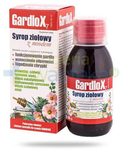Gardlox 7 syrop ziołowy z miodem 120 ml