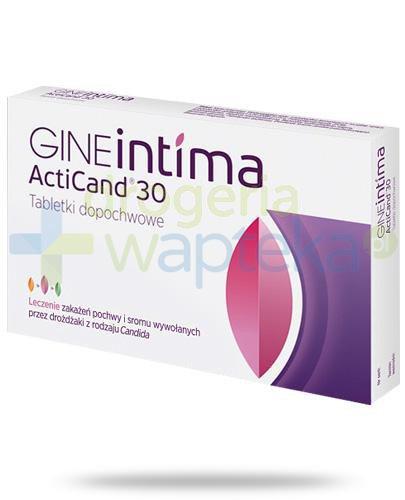 GINEintima ActiCand 30 tabletki dopochwowe 8 sztuk