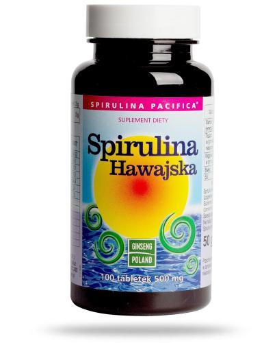 Ginseng Spirulina Hawajska 500mg 100 tabletek