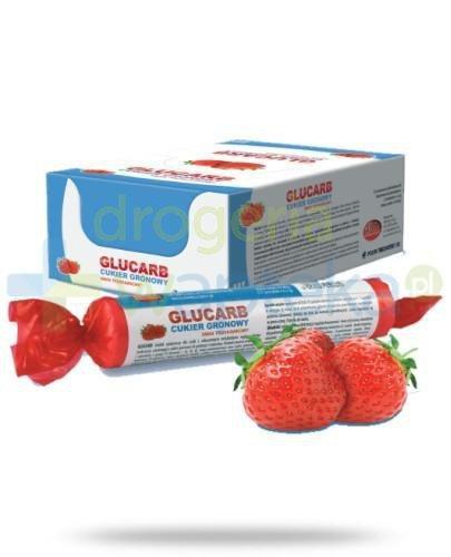 Glucarb o smaku truskawkowym 17 pastylek