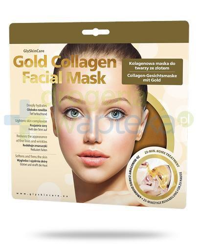 GlySkinCare Gold Collagen kolagenowa maska na twarzy ze złotem 1 sztuka