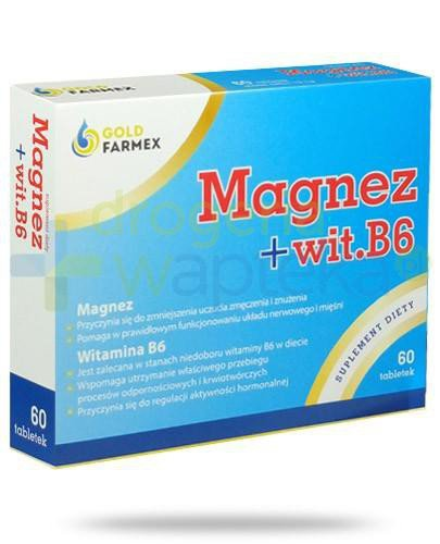 Goldfarmex magnez + witamina B6 60 tabletek