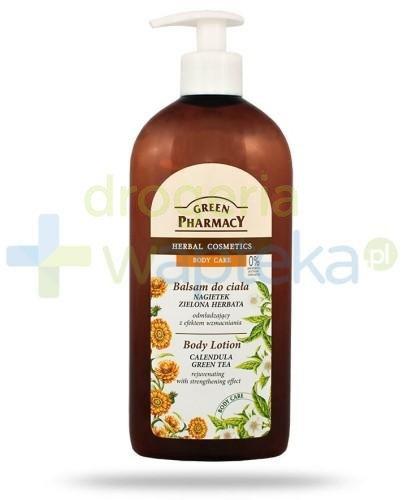 Green Pharmacy Balsam do ciała Nagietek i Zielona Herbata odmładzający z efektem wzmacniania 500 ml Elfa Pharm