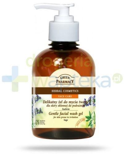 Green Pharmacy Delikatny żel do mycia twarzy dla skóry ze skłonnością do podrażni...